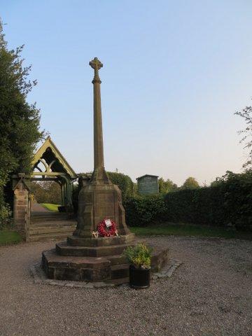 Keele: war memorial
