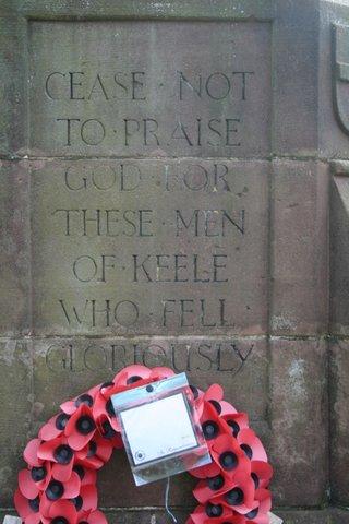 Keele war memorial: west face
