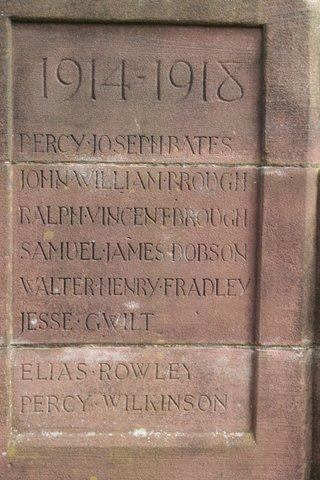 Keele war memorial south face
