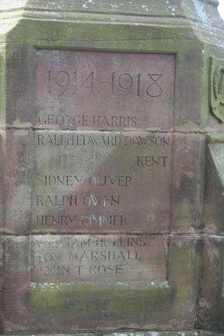 Keele war memorial: north face